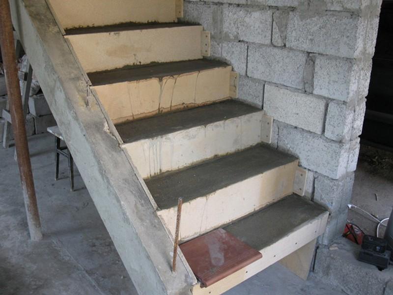 лестница из бетона фото