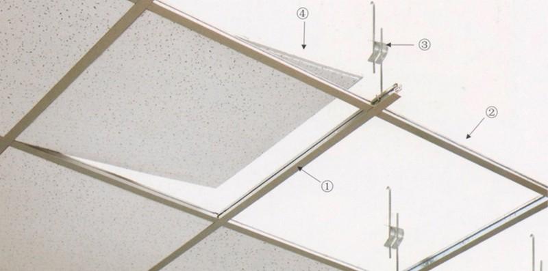 монтаж кассетных потолков фото