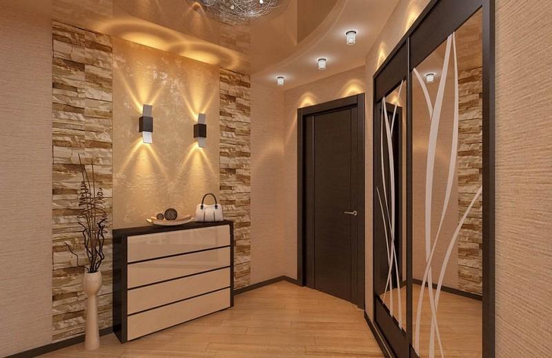освещение в прихожей с натяжными потолками фото