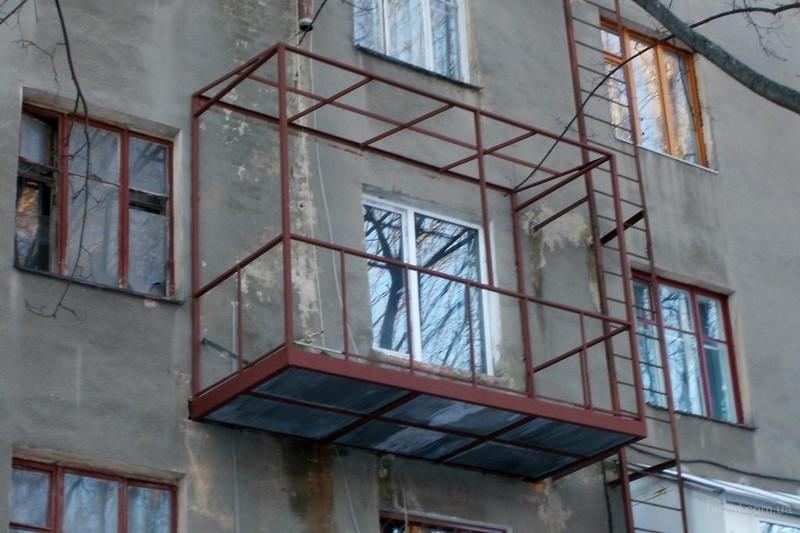 консольный балкон своими руками фото
