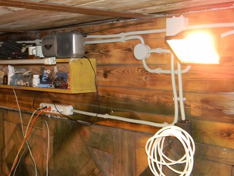 Как сделать проводки в гараже фото