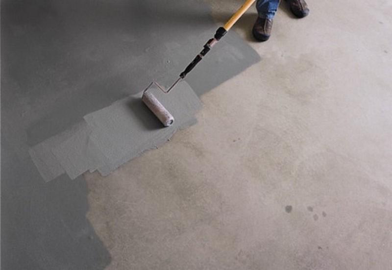 краска для обеспыливания бетонного пола фото