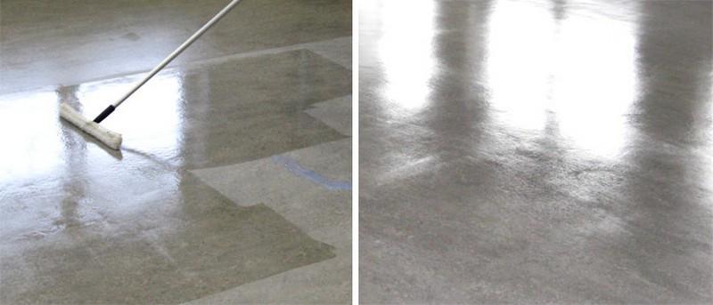 обеспыливание бетонного пола фото