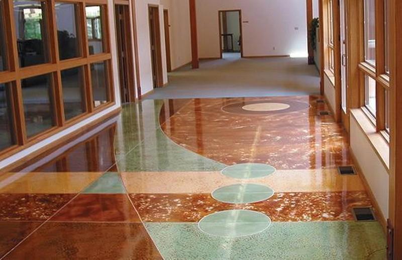 бетонно мозаичные полы фото