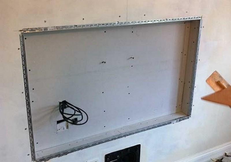 ниша в стене под батарею фото