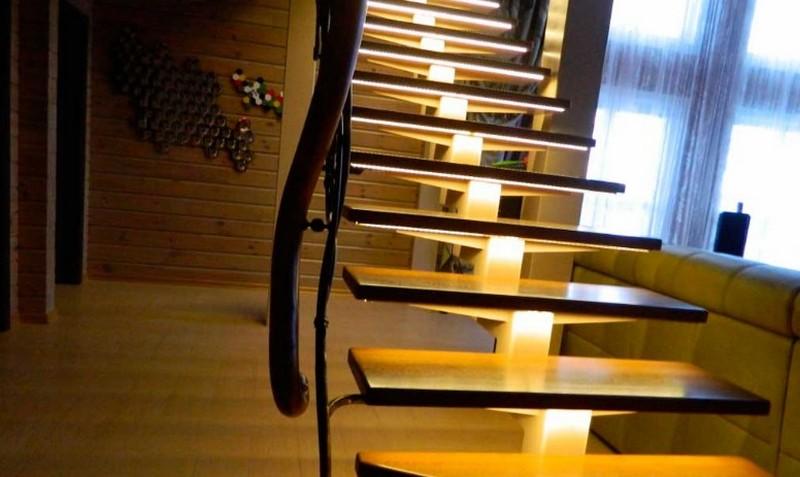 светильники для подсветки лестницы фото