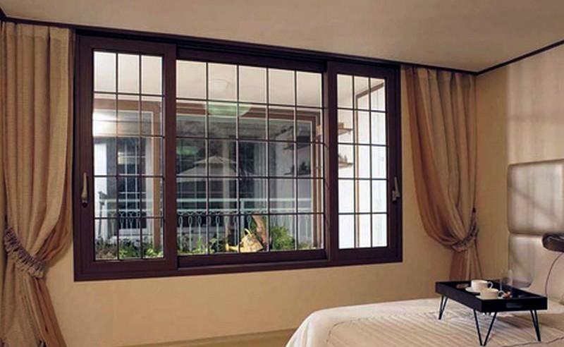 Деревянные межкомнатные окна фото