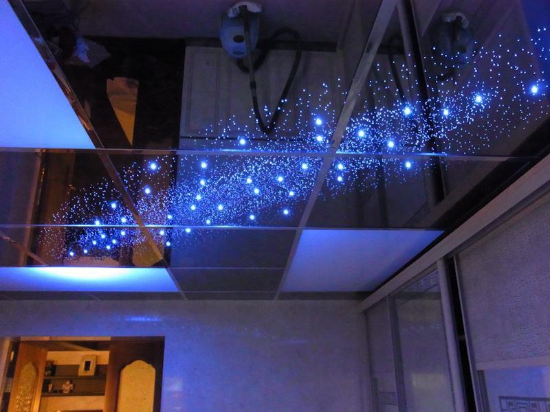 зеркальные подвесные потолки фото