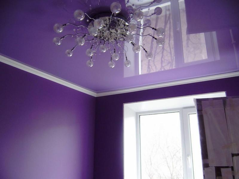 дизайн натяжных потолков в квартире фото