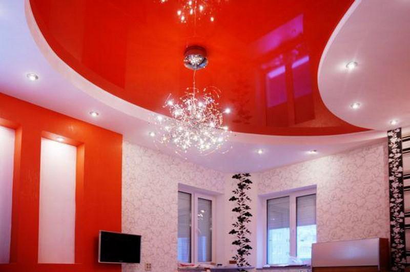 современные потолки в квартире фото